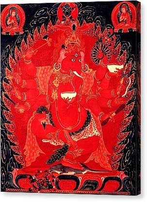 Ganapati 14 Canvas Print by Lanjee Chee