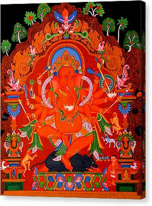 Ganapati 5 Canvas Print by Lanjee Chee