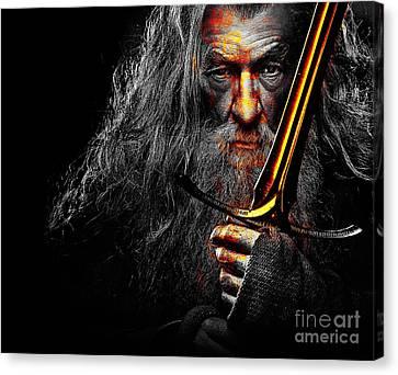 The Leader Of Mankind  - Gandalf / Ian Mckellen Canvas Print by Prar Kulasekara