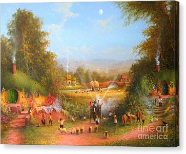 Gandalf's Return Fireworks In The Shire. Canvas Print by Joe  Gilronan