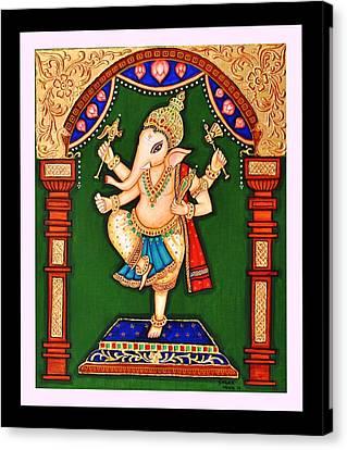 Ganesh The Elephant Headed Deity Canvas Print by Sagar M Mehta