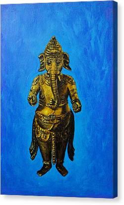 Ganesha Idol Canvas Print by Usha Shantharam