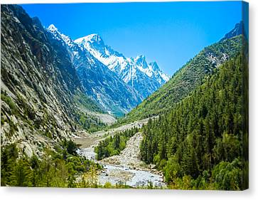 Ganges River Valley - Indian Himalayas Canvas Print by Nila Newsom