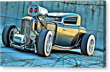 Gangster Dragster Canvas Print by Anthony Djordjevic