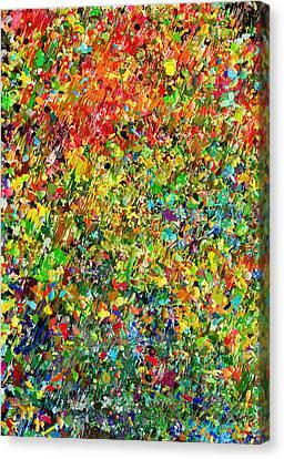 Garden Abstract Canvas Print by Georgiana Romanovna