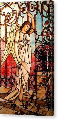 Garden Angel Canvas Print by Kristin Elmquist