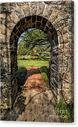 Garden Archway Canvas Print by Adrian Evans