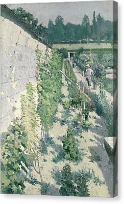 Garden In Grez Canvas Print by Karl Fredrick Nordstrom