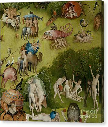 Garden Of Earthly Delights   Detail Canvas Print by Hieronymus Bosch
