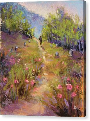 Garden Of Stone Canvas Print by Susan Jenkins