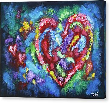 Garden Of The Heart Canvas Print by Diana Haronis
