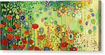Garden Poetry Canvas Print by Jennifer Lommers