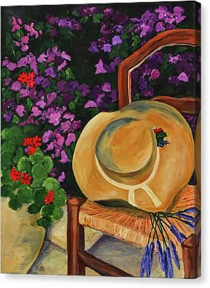 Garden Scene Canvas Print by Elise Palmigiani