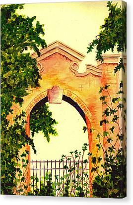 Garden Scene Canvas Print by Michael Vigliotti