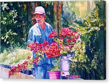 Gardener Canvas Print by Estela Robles