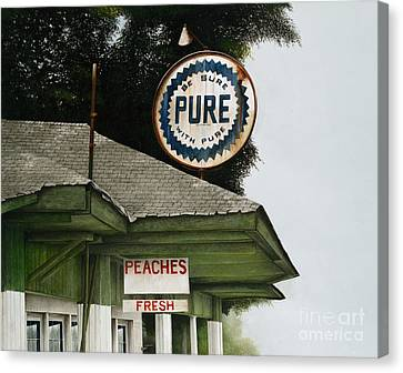Gardner's Peaches Canvas Print by Mike England