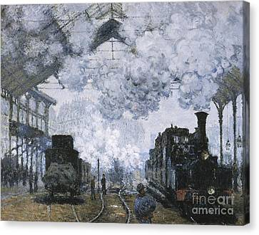 Gare Saint-lazare Canvas Print by Celestial Images