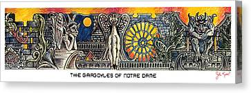 Gargoyles Of Notre Dame Canvas Print by John Keaton
