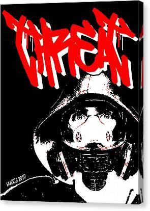 Gas Mask Canvas Print by Jesus Javier Huerta