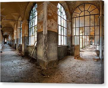 Gateway To Sanity - Abandoned Building Canvas Print by Dirk Ercken