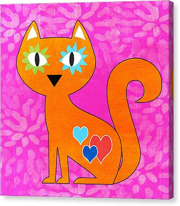 Gato Canvas Print by Linda Woods