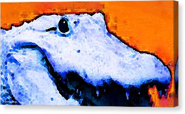 Gator Art - Swampy Canvas Print by Sharon Cummings