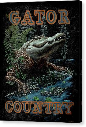 Gator Country Canvas Print by JQ Licensing