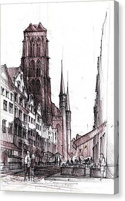 Gdansk Saint Mary's Church Canvas Print by Krystian  Wozniak