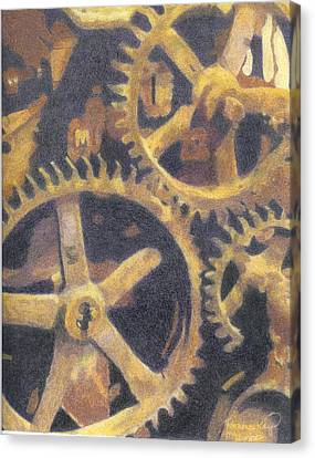 Gears Canvas Print by Ronine McIntyre