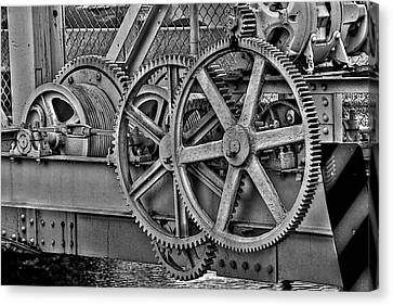 Gears Canvas Print by William Wetmore