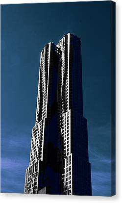 Gehry In The Sky Canvas Print by Jessica Jenney