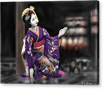 Geisha No.9 Canvas Print by Yoshiyuki Uchida