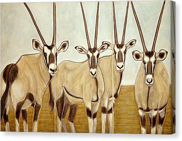 Gemsboks Or 0ryxs Triptych Canvas Print by Isabelle Ehly