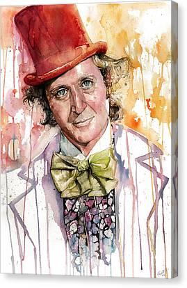 Gene Wilder Canvas Print by Michael  Pattison