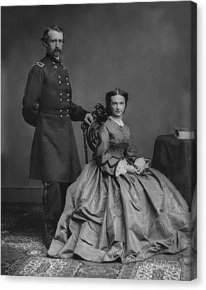 General Custer And His Wife Libbie Canvas Print by War Is Hell Store