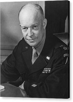 General Dwight Eisenhower Canvas Print by War Is Hell Store