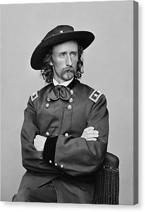 General George Armstrong Custer Canvas Print by War Is Hell Store