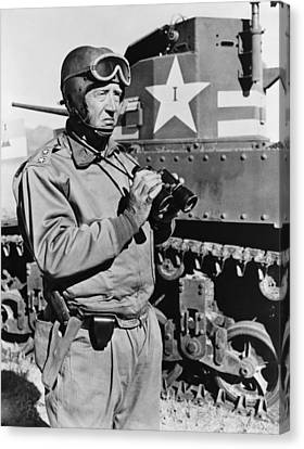General George S. Patton 1885-1945 Canvas Print by Everett