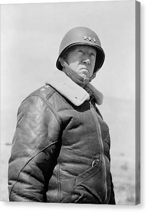 General George S. Patton Canvas Print by War Is Hell Store