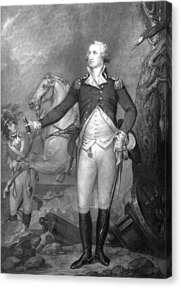 General George Washington At Trenton Canvas Print by War Is Hell Store