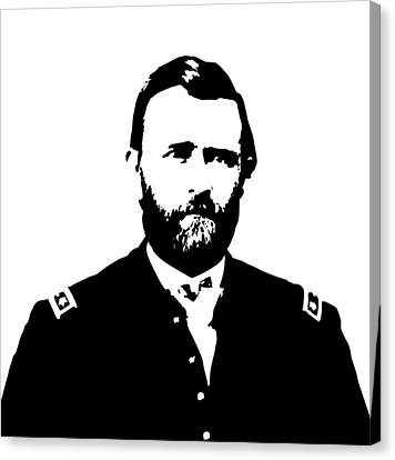 General Grant Black And White  Canvas Print by War Is Hell Store