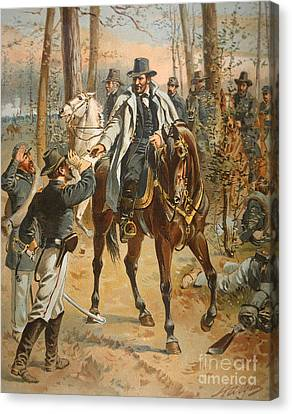 General Grant In The Wilderness Campaign 5th May 1864 Canvas Print by Henry Alexander Ogden