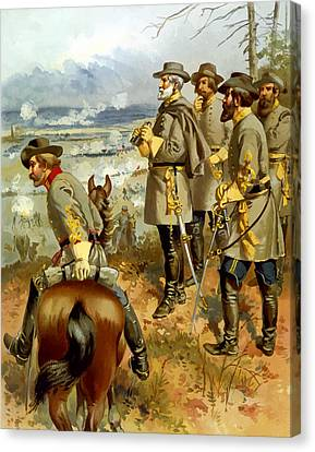 General Lee At The Battle Of Fredericksburg Canvas Print by War Is Hell Store