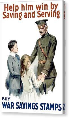 General Pershing - Buy War Saving Stamps Canvas Print by War Is Hell Store