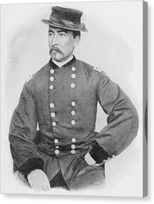 General Sheridan Civil War Portrait Canvas Print by War Is Hell Store