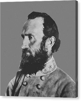 General Stonewall Jackson Canvas Print by War Is Hell Store