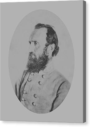 General Thomas Stonewall Jackson Canvas Print by War Is Hell Store