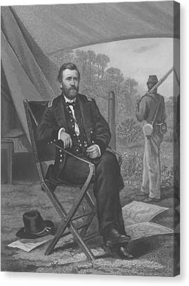 General U.s. Grant Canvas Print by War Is Hell Store