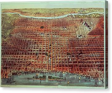 General View Of Philadelphia Canvas Print by Currier and Ives