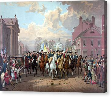 General Washington Enters New York Canvas Print by War Is Hell Store